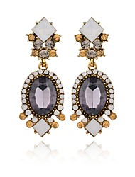 cheap -Women's Crystal Drop Earrings Retro Drop Ladies Fashion Elegant Earrings Jewelry Gold For Evening Party Office & Career 1 Pair