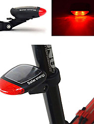cheap -LED Bike Light Rear Bike Tail Light Safety Light Mountain Bike MTB Bicycle Cycling Waterproof New Design Solar Power 100 lm Red Cycling / Bike / ABS