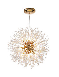 cheap -12 Bulbs OBSESS® 55 cm Crystal / Mini Style Chandelier Metal Sputnik LED / Modern 110-120V / 220-240V