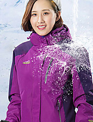 cheap -Women's Hiking 3-in-1 Jackets Hiking Jacket Winter Outdoor Thermal / Warm Waterproof Windproof Breathable Jacket 3-in-1 Jacket Fleece Full Length Visible Zipper Camping / Hiking Ski / Snowboard