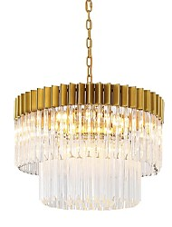 cheap -6-Light 40 cm Chandelier Metal Electroplated Traditional Classic 110-120V 220-240V