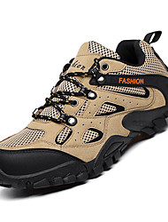 cheap -Men's Comfort Shoes PU Fall Sporty Athletic Shoes Hiking Shoes Non-slipping Black / Green / Khaki