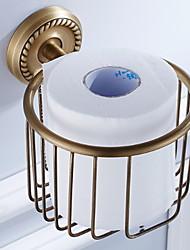 Недорогие -Держатель для туалетной бумаги Новый дизайн Античный Латунь 1шт На стену
