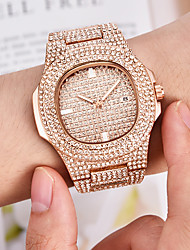 cheap -Men's Bracelet Watch Wrist Watch Quartz Pave Silver / Gold / Rose Gold Calendar / date / day Creative Luminous Analog Luxury Sparkle Bling Bling fancy - Rose Gold Gold Silver One Year Battery Life