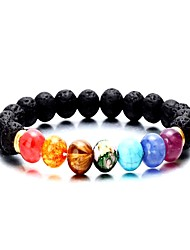 cheap -Women's Natural Stone Agate Bead Bracelet Stylish Beads Cathedral Buddha Ladies Fashion Colorful Cord Bracelet Jewelry Rainbow For Daily Birthday