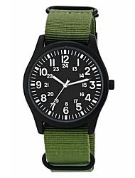 Недорогие -Муж. Спортивные часы Японский Японский кварц Нейлон Жад / Цвета морской волны 30 m Защита от влаги Cool Аналоговый На каждый день Мода - Темно-синий Камуфляж Зеленый Один год Срок службы батареи