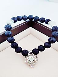 cheap -Women's Luminous Stone Bead Bracelet Beads Sweet Heart Ladies Trendy Chrome Bracelet Jewelry Green For Christmas Halloween