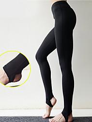 abordables -Femme Étrier Pantalon de yoga Couleur unie Spandex Zumba Course / Running Danse Leggings Tenues de Sport Respirable Séchage rapide Design Anatomique Push Up Elastique Mince