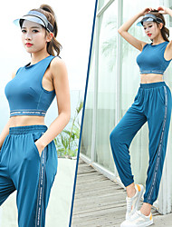 cheap -Women's 2-Piece Spandex Sports Bra With Running Pants Track Pants Sports Pants 2pcs Yoga Running Fitness Breathable Quick Dry Sweat-wicking Sportswear Pants / Trousers Crop Top Clothing Suit