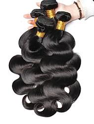 cheap -6 Bundles Indian Hair Body Wave Human Hair Unprocessed Human Hair Natural Color Hair Weaves / Hair Bulk Extension Bundle Hair 8-28 inch Natural Color Human Hair Weaves Silky Hot Sale Thick Human Hair
