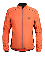 cheap -Men's Cycling Jacket Bike Jacket Top Windproof Sports Solid Color Polyester Winter Orange / Green / Black / Yellow Mountain Bike MTB Road Bike Cycling Clothing Apparel Bike Wear