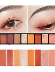 cheap -10 Colors Eyeshadow Palette Powders Matte Shimmer Eye Matte Shimmer Glitter Shine smoky Daily Makeup Halloween Makeup Party Makeup Cosmetic Gift
