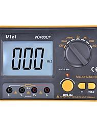Недорогие -vichy vici vc480c + цифровой мультиметр мультиметрический диагностический инструмент тестер 3 1/2 миллиоля счетчика с подсветкой с 4-проводным тестом