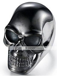 cheap -Men's Band Ring 1pc Black Titanium Steel Tungsten Steel Circle Geometric Vintage Punk Initial Halloween Daily Jewelry Vintage Style 3D Skull Cool