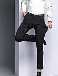 abordables -Homme Basique Quotidien Costume Pantalon - Couleur Pleine Taille haute Bleu Noir 36 38 35
