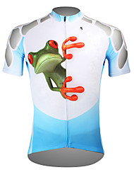 cheap -ILPALADINO Men's Short Sleeve Cycling Jersey Polyester Purple Blue Orange Frog Bike Jersey Top Mountain Bike MTB Road Bike Cycling Breathable Quick Dry Ultraviolet Resistant Sports Clothing Apparel