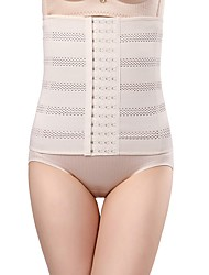 cheap -Women's Hook & Eye Overbust Corset - Solid Colored, Cut Out Without Lining Black Beige S M L / Sexy