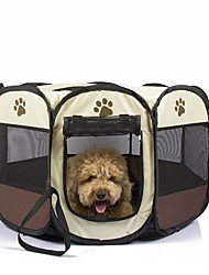 cheap -Dog Pets Cages Carrier Bag & Travel Backpack Kennel & Crate Waterproof Portable Breathable Color Block Footprint / Paw Oxford Cloth Yellow Red Fuchsia / Foldable