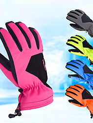 cheap -Winter Gloves Ski Gloves Men's Women's Snowsports Full Finger Gloves Winter Waterproof Windproof Rain Waterproof PU Leather Spinning Cotton Lycra Spandex Skiing Snowsports Snowboarding