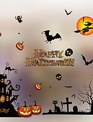 abordables -Film de fenêtre et autocollants Décoration Halloween Vacances PVC Cool