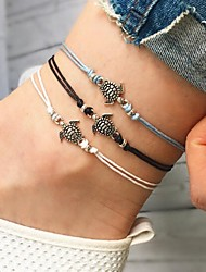 cheap -Women's Loom Bracelet Pendant Bracelet Braided Turtle Animal Ladies Bohemian Fashion Cord Bracelet Jewelry White / Black / Blue For Street Going out
