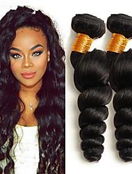 cheap -3 Bundles Malaysian Hair Wavy Loose Wave Human Hair Unprocessed Human Hair Headpiece Natural Color Hair Weaves / Hair Bulk Hair Care 8-28 inch Natural Color Human Hair Weaves Extender Silky Best / 8A