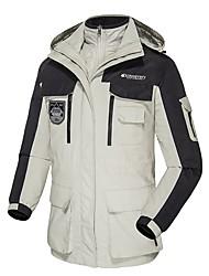 cheap -Men's Hiking Down Jacket Hiking 3-in-1 Jackets Winter Outdoor Thermal / Warm Waterproof Windproof Down Lining 3-in-1 Jacket Winter Jacket Waterproof Camping / Hiking Hunting Ski / Snowboard Black