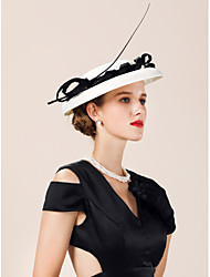cheap -Flax Hats with Imitation Pearl 1 Piece Wedding / Party / Evening Headpiece