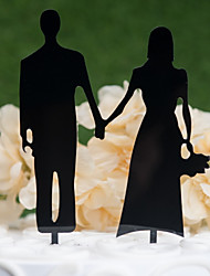 cheap -Cake Topper Classic Theme / Wedding Cut Out Acryic / Polyester Wedding / Anniversary with Acrylic 1 pcs PVC Bag