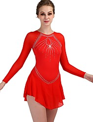cheap -Figure Skating Dress Women's Girls' Ice Skating Dress Yellow & Yellow Sky Blue Dark Purple Spandex Stretch Yarn Professional Competition Skating Wear Quick Dry Anatomic Design Handmade Classic Sexy