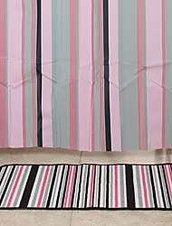cheap -Shower Curtains Contemporary PVC(PolyVinyl Chloride) Machine Made Waterproof / New Design / Cool Bathroom