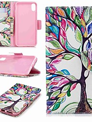 cheap -Case For Apple iPhone XR / iPhone XS Max Wallet / Card Holder / with Stand Full Body Cases Tree Hard PU Leather