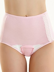 cheap -Women's Maternity Cotton Seamless Panties / Shaping Panties - Basic, Solid Colored Mid Waist Blushing Pink Yellow Camel S M L