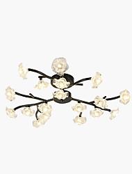 cheap -18 Bulbs ZHISHU 70 cm Mini Style Flush Mount Lights Metal Glass Sputnik Painted Finishes Nature Inspired 110-120V / 220-240V / G4