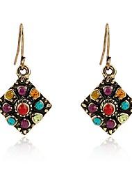 cheap -Women's Drop Earrings Vintage Style Ladies Bohemian Rhinestone Earrings Jewelry Gold For Daily 1 Pair