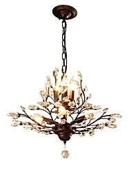 cheap -JLYLITE 7-Light 62 cm Mini Style Chandelier Metal Crystal Painted Finishes Rustic / Lodge / Retro 110-120V / 220-240V