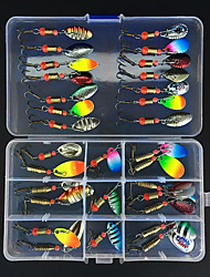 cheap -31 pcs Lure kit Fishing Lures Spinnerbaits Sinking Bass Trout Pike Freshwater and Saltwater Sea Fishing Jigging Fishing / Freshwater Fishing / Carp Fishing / Bass Fishing / Lure Fishing