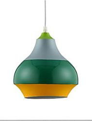 cheap -Circular Pendant Light Ambient Light Painted Finishes Aluminum New Design 110-120V / 220-240V Warm White Bulb Not Included / E26 / E27