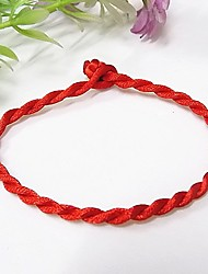 cheap -Women's Loom Bracelet Braided Creative Ladies Fashion Chinoiserie Cord Bracelet Jewelry Red For Daily Going out