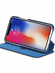 cheap -Case For Apple iPhone XS / iPhone XR / iPhone XS Max Wallet / Card Holder / Shockproof Full Body Cases Solid Colored Hard PU Leather