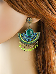 cheap -Women's Synthetic Tourmaline Drop Earrings Stylish Lucky Ladies Basic Fashion Earrings Jewelry Black / Green / Blue For Daily Date 1 Pair