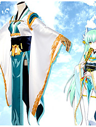 cheap -Inspired by Fate / Grand Order FGO Kiyohime Anime Cosplay Costumes Japanese Cosplay Suits Floral Botanical Kimono Coat Costume For Women's