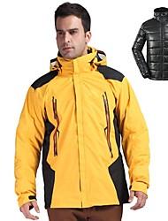 cheap -Men's Hiking Down Jacket Hiking 3-in-1 Jackets Winter Outdoor Waterproof Lightweight Windproof Breathable 3-in-1 Jacket Winter Jacket Cotton Down Single Slider Camping / Hiking Ski / Snowboard
