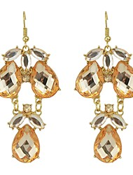 cheap -Women's Synthetic Tourmaline Drop Earrings Stylish Lucky Ladies Basic Fashion Earrings Jewelry White / Black / Orange For Daily Date 1 Pair