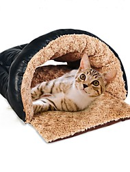 cheap -Dog Cat Pets Bed Tent Cave Bed Pet House Warm Tent Washable Pet Liners Plush Fabric Solid Colored Brown