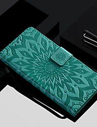 cheap -Case For Huawei Huawei P20 / Huawei P20 Pro / Huawei P20 lite Wallet / Card Holder / with Stand Full Body Cases Flower Hard PU Leather