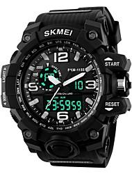 Недорогие -SKMEI Муж. Жен. Спортивные часы электронные часы Цифровой силиконовый Черный 30 m Защита от влаги Календарь Секундомер Цифровой На каждый день - Красный Зеленый Синий / Фосфоресцирующий