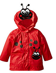 cheap -Kids Girls' Basic Daily Polka Dot Solid Colored Patchwork Long Sleeve Regular Cotton Suit & Blazer Red