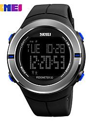 Недорогие -SKMEI Муж. Жен. Спортивные часы электронные часы Цифровой силиконовый Черный / Зеленый 30 m Защита от влаги Календарь Секундомер Цифровой На каждый день - Серебряный Красный Синий