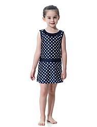 cheap -Kids Girls' Boho Sports Polka Dot Sleeveless Swimwear Blushing Pink